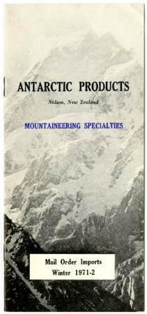 Antarctic Products,Mountaineering Specialties, 1971-1972