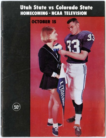 Football program - Utah State University vs Colorado State University, October 15, 1966