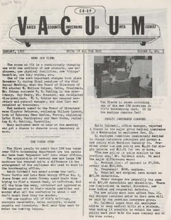 Varied Accounts Concerning Uca Uinta Mischief (VACUUM), Volume 2, Number 1,  January 1959