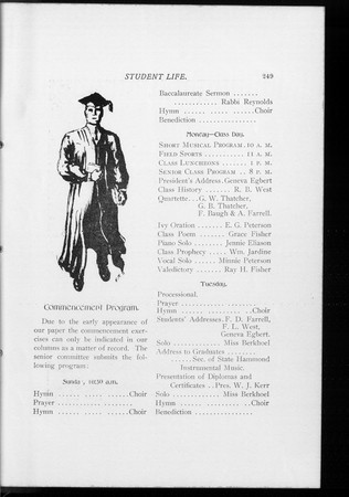 1904 UAC Commencement Program Student Life Newspaper