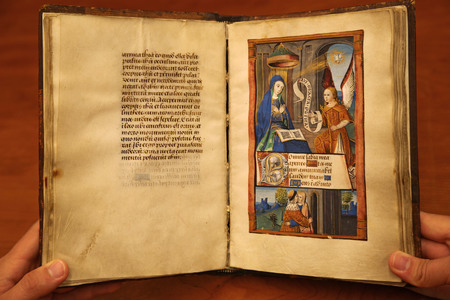Pages 54 and 55 detailing Annunciation and Immaculate Conception