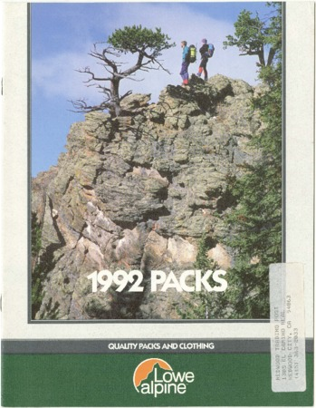 Lowe Alpine Systems, Packs, 1992
