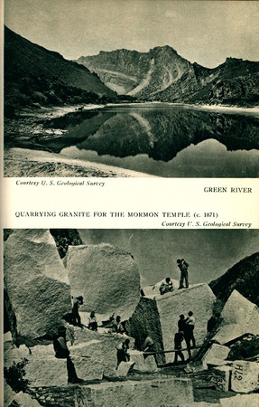 Utah State Guide Images of Green River and Quarrying Granite for the Mormon Temple