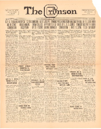 The Crimson, October 31, 1924