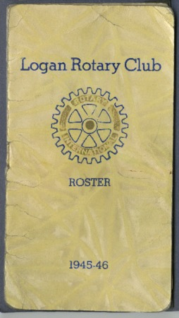 Logan Rotary Club Roster, 1945-46