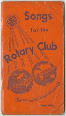 Songs for the Rotary Club, 1945