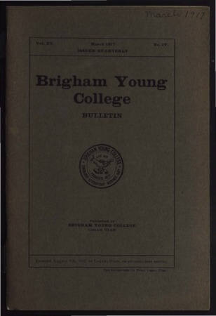Brigham Young College Bulletin, March 1917