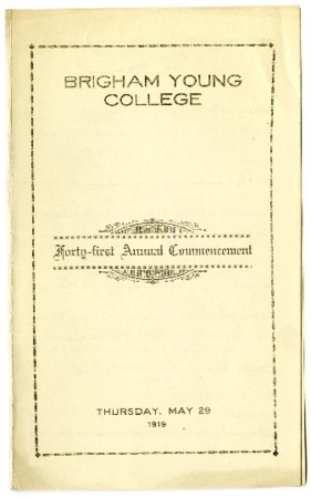 Forty-first Commencement Program, May 29, 1919