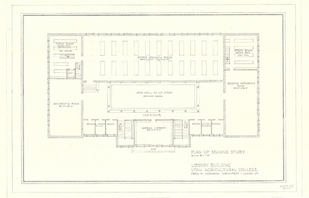 Plan of Second Story of the USAC Library Building<br />