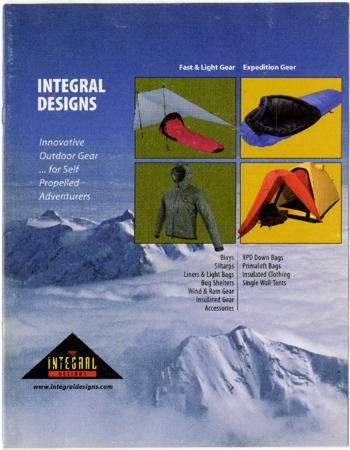 Integral Designs, Innovative Outdoor Gear, undated