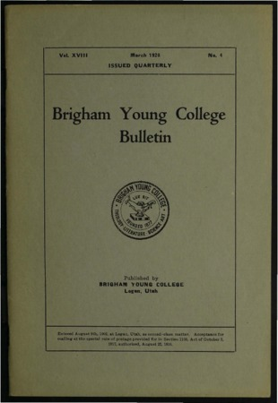 Brigham Young College Bulletin, March, 1920