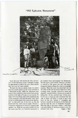 """Old Ephraim Monument"" from A Legacy of Monuments"