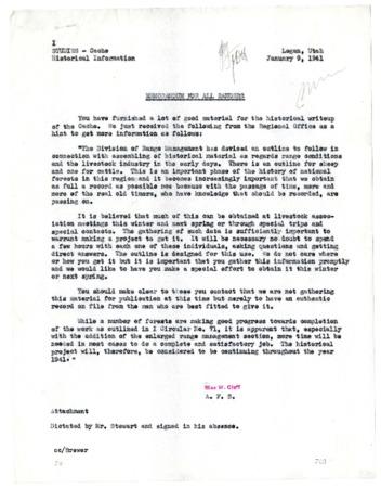 Memorandum for All Rangers