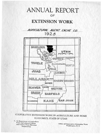 Annual Report of Extension Work, Agricultural Agent, Cache County, 1928
