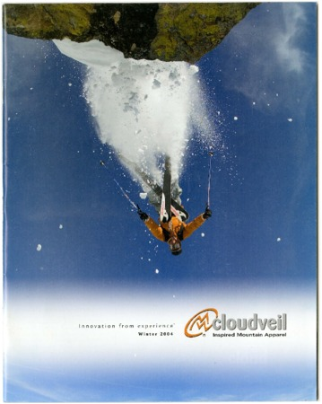 Cloudveil upside-down skier, 2004