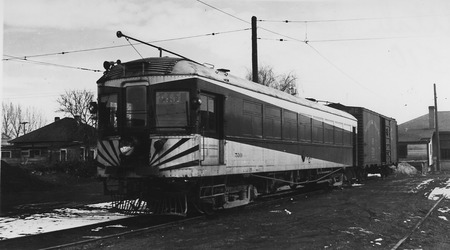 U.I.C. Engine #510 and Freight Car Parked in Northern Utah, 1930-1940<br />