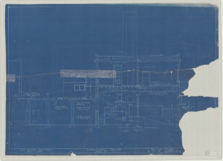 Floor plans for boiler room at Brigham Young College