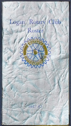 Logan Rotary Club Roster, 1942-43
