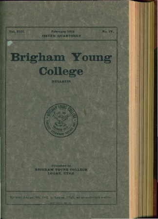 Brigham Young College Bulletin, February 1915