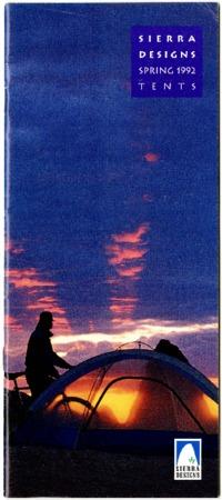 Sierra Designs, Tents, Spring 1992