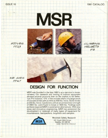 Mountain Safety Research, 1981