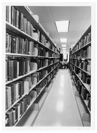 Book shelves, Merrill Library