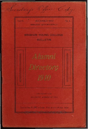 Brigham Young College Bulletin, December 1910