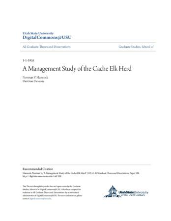 Management Study of the Cache Elk Herd