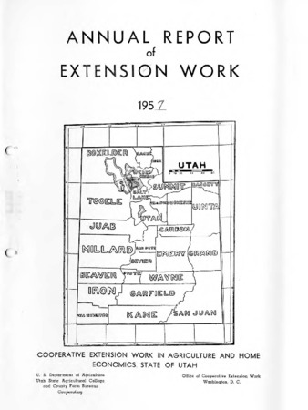 Annual Report of Extension Work Agents, Davis County, 1957