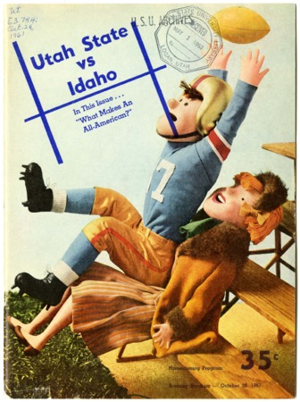 Football program: Utah State University vs. University of Idaho, October 28, 1961