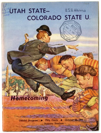 Football program: Utah State University vs Colorado State University, 1958