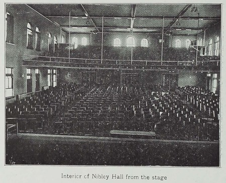 Interior of Nibley Hall from the Stage