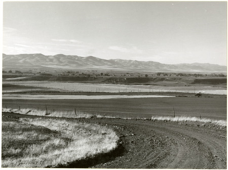 View of Malad Valley from U.I.C. Grade, 1978<br />