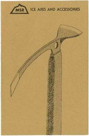 Mountain Safety Research, Ice Axes and Accessories, undated