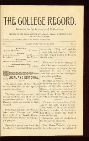 The College Record, February 10, 1893