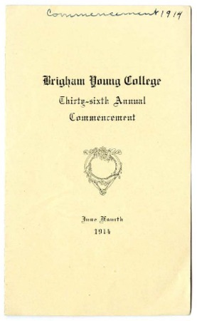 Programs for Thirty-sixth Commencement of Brigham Young College, June 4, 1914