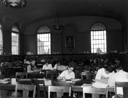 Reading room, Merrill Library, looking north, 1930s