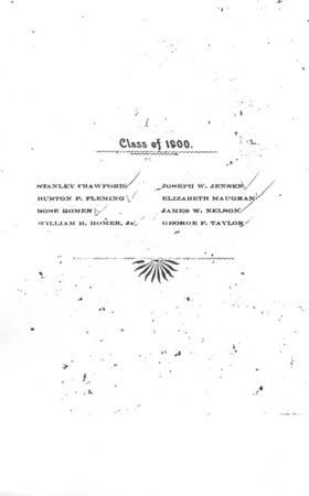 1900 UAC Commencement Program, Page 1