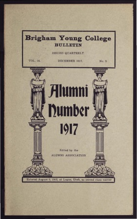 Brigham Young College Bulletin, December 1917