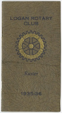 Logan Rotary Club Roster, 1935-36