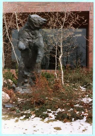 Statue of Old Ephraim at American Savings, Logan