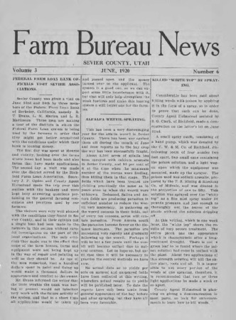 Farm Bureau News, Sevier County, 1920 [redo?]
