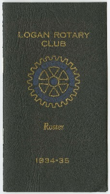 Logan Rotary Club Roster, 1934-35