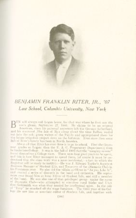 1909 A.C.U. Graduate Yearbook, Page 191