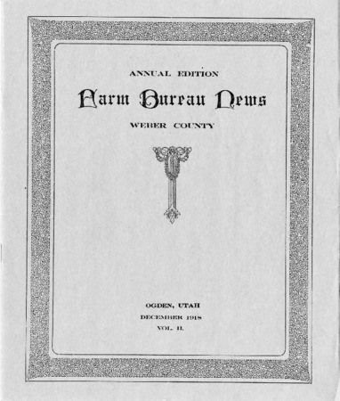 Farm Bureau News, Weber County, Volume II, December 1918 copy 2