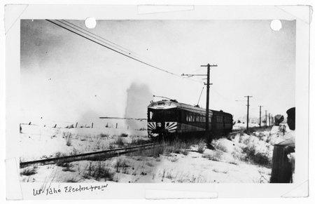 U.I.C. Train Arriving at a Stop<br />