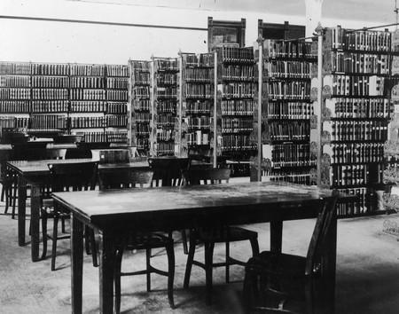 Interior of Library, circa 1905