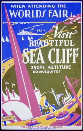 World's Fair: Visit Beautiful Sea Cliff Poster