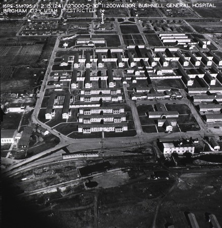 Aerial view of Bushnell Hospital