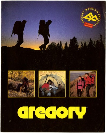 Gregory Mountain Products, sunset backpackers, 1990